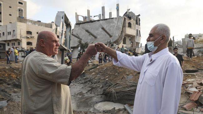 warga palestina rayakan idul fitri ditengah gempuran israel 3 169